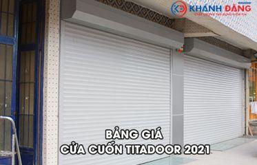 Bảng Giá Cửa Cuốn Nan Nhôm Titadoor Năm 2021