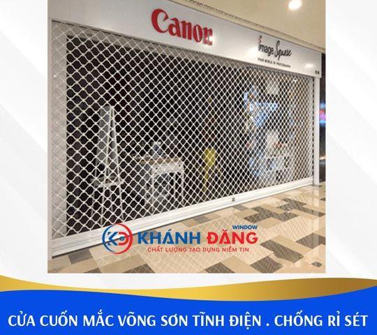 Cửa Lưới Mắc Võng Thép Sơn Tĩnh Điện