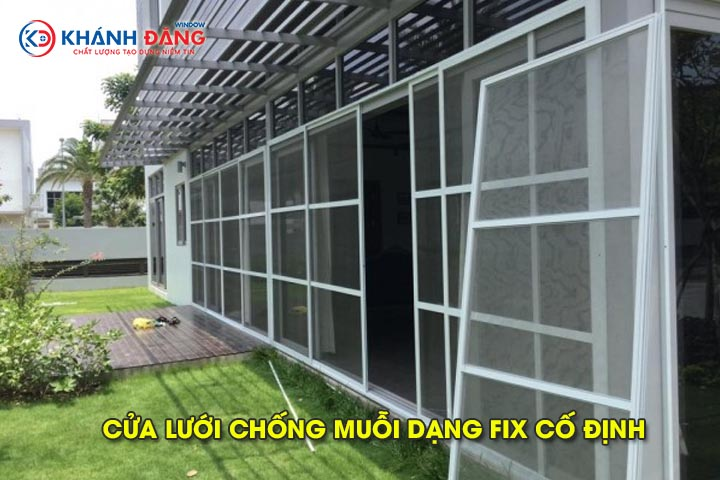 cửa lưới chống muỗi dạng fix cố định