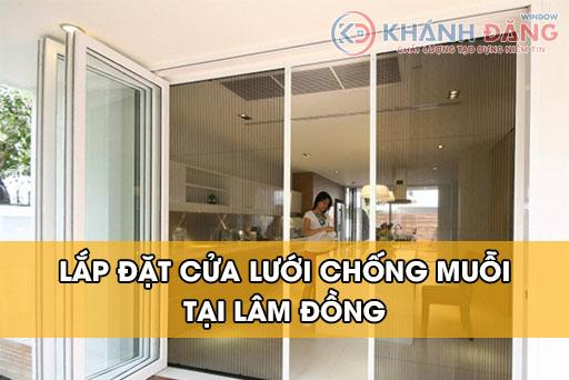 Lắp đặt cửa lưới chống muỗi tại Lâm Đồng