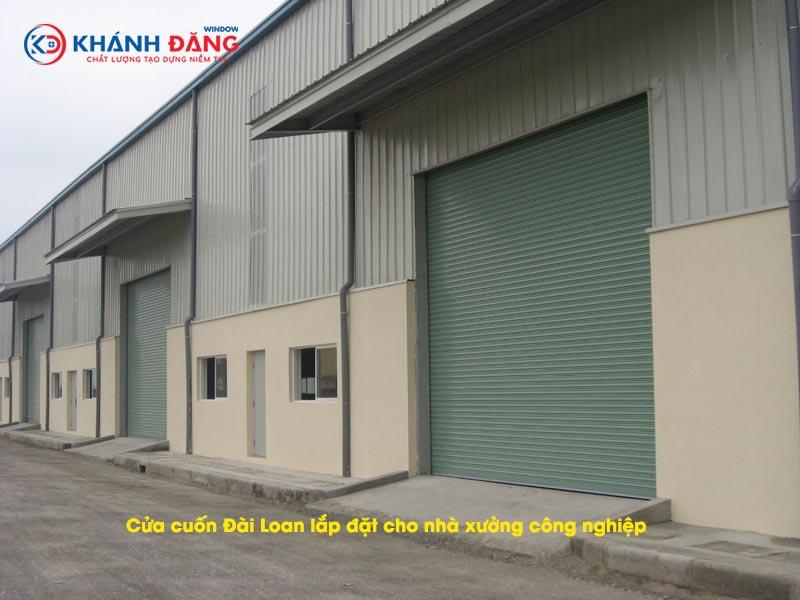 cửa cuốn đài loan lắp đặt cho nhà xưởng