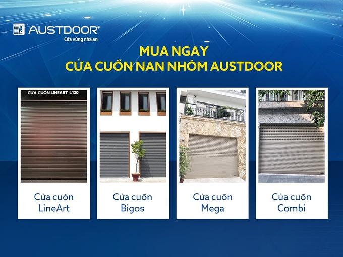 cửa cuốn austdoor an toàn thẩm mỹ và hiện đại