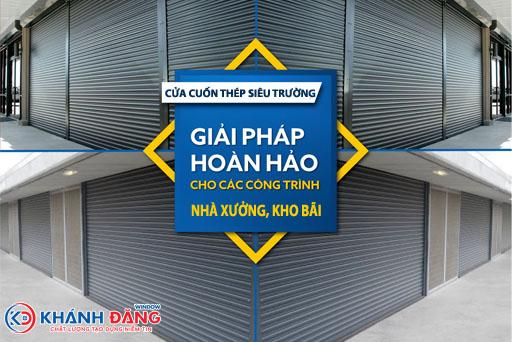 cửa cuốn thép siêu trường cho nhà xưởng công nghiệp
