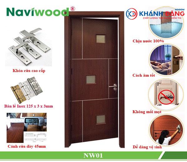 cửa gỗ composite NW01