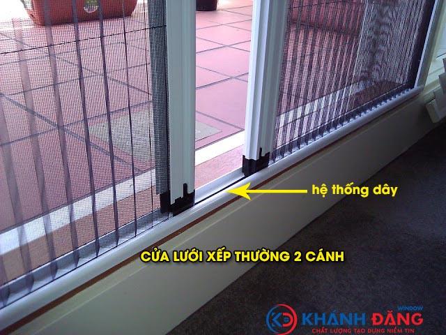 cửa lưới chống muỗi xếp thường